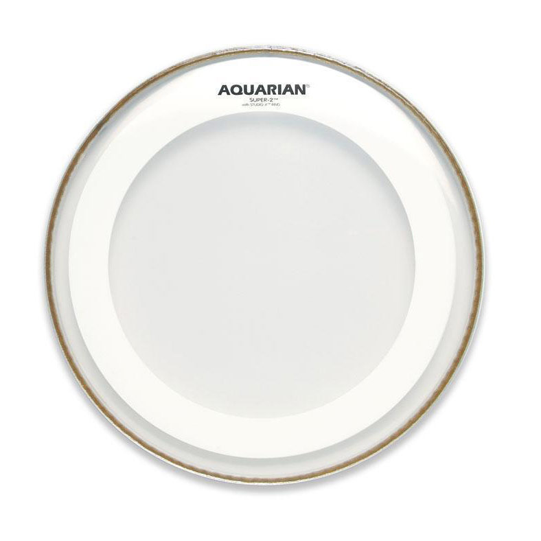 "Aquarian 14"" Super-2 Clear Head with Studio-X Ring"