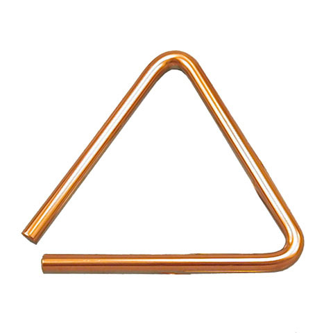 "Black Swamp 6"" Brass Spectrum Triangle"