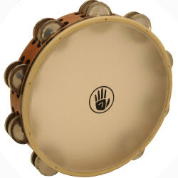 "Black Swamp 10"" SoundArt Double Row German Silver Tambourine (Natural Head)"