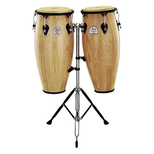 "Pearl 10"" & 11"" Thai Oak Conga Set with Stands"