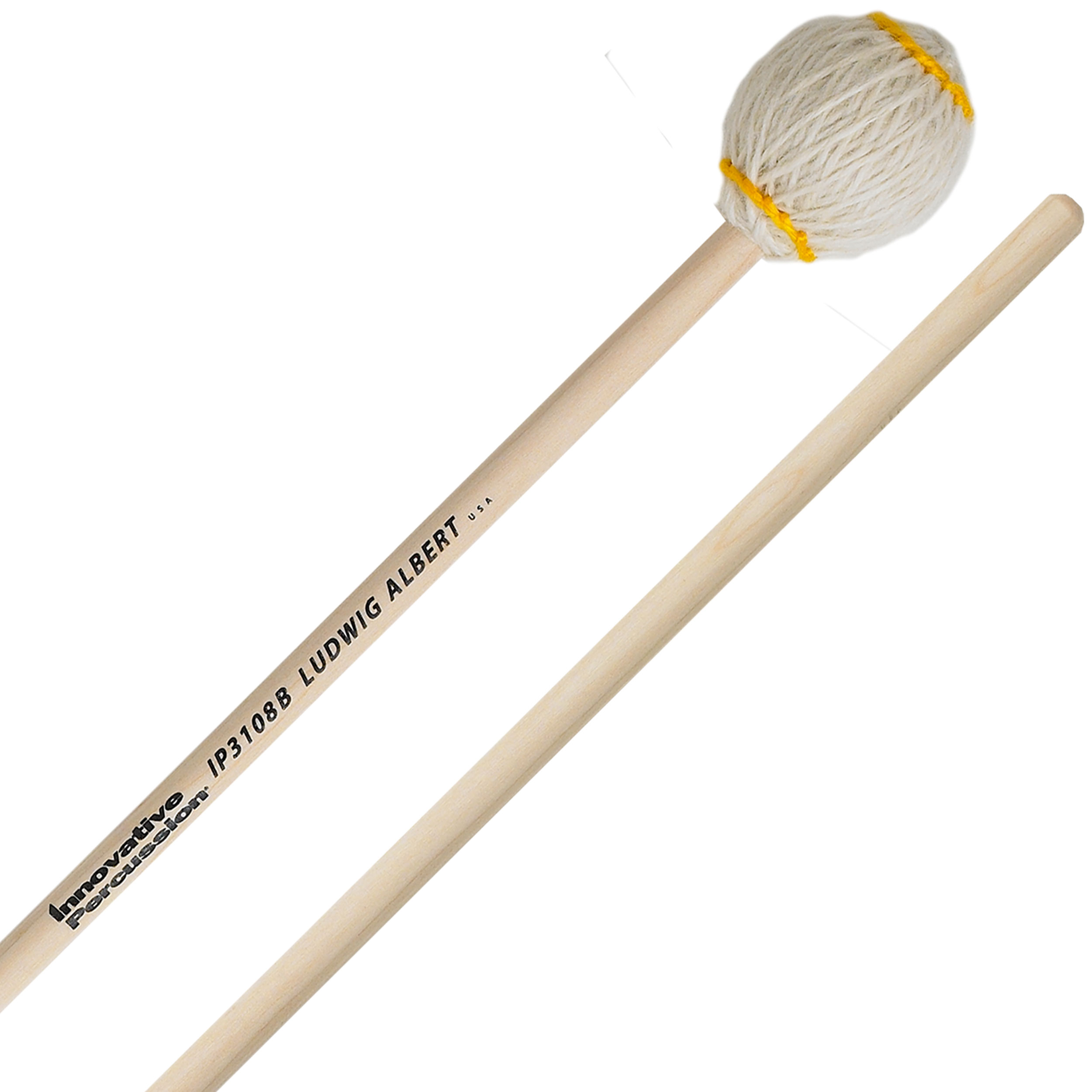 Innovative Percussion Ludwig Albert Signature Very Hard Marimba Mallets with Birch Shafts