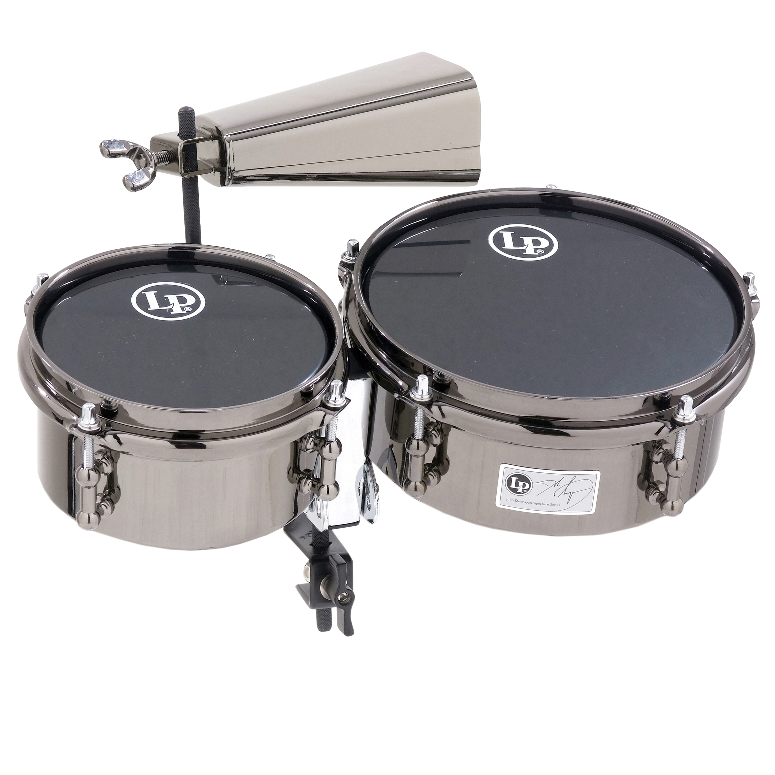 LP John Dolmayan Mini Timbales With Cowbell & Mount Pack