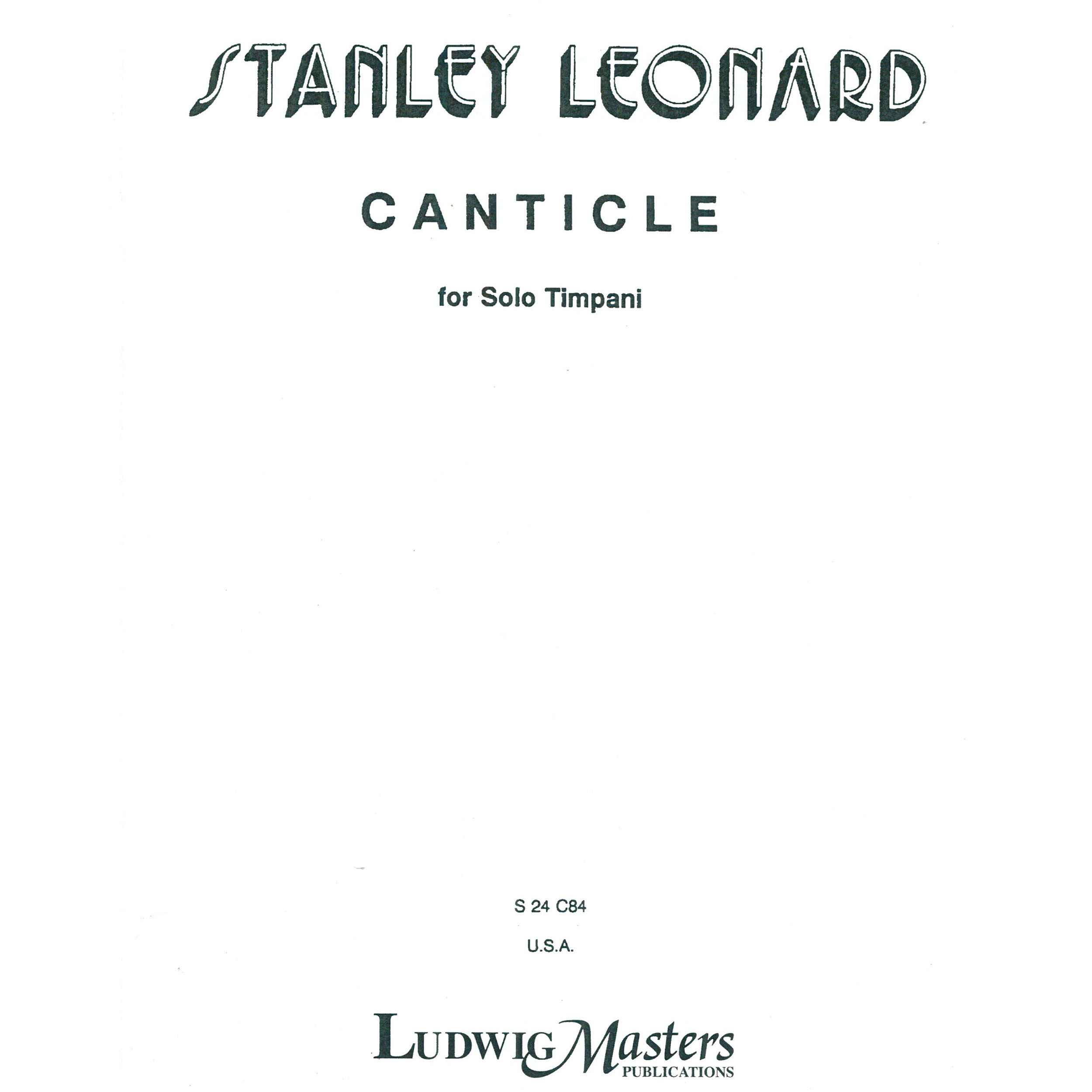 Canticle by Stanley Leonard