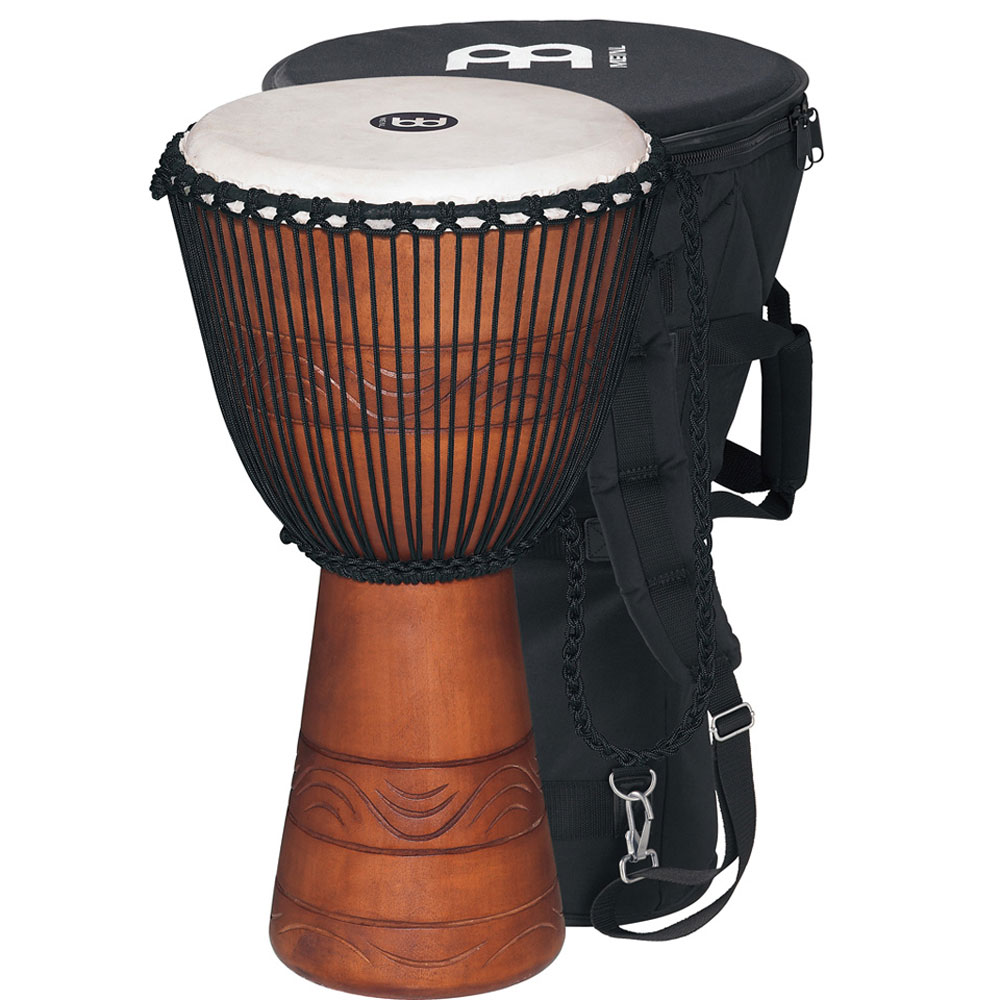 "Meinl 12"" Water Rhythm Series Rope-Tuned Djembe with Bag"