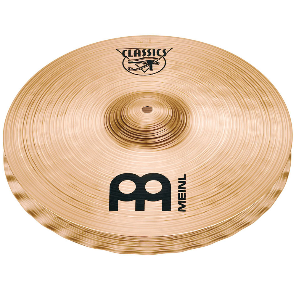 "Meinl 14"" Classic Powerful Soundwave Hi Hat Cymbals"