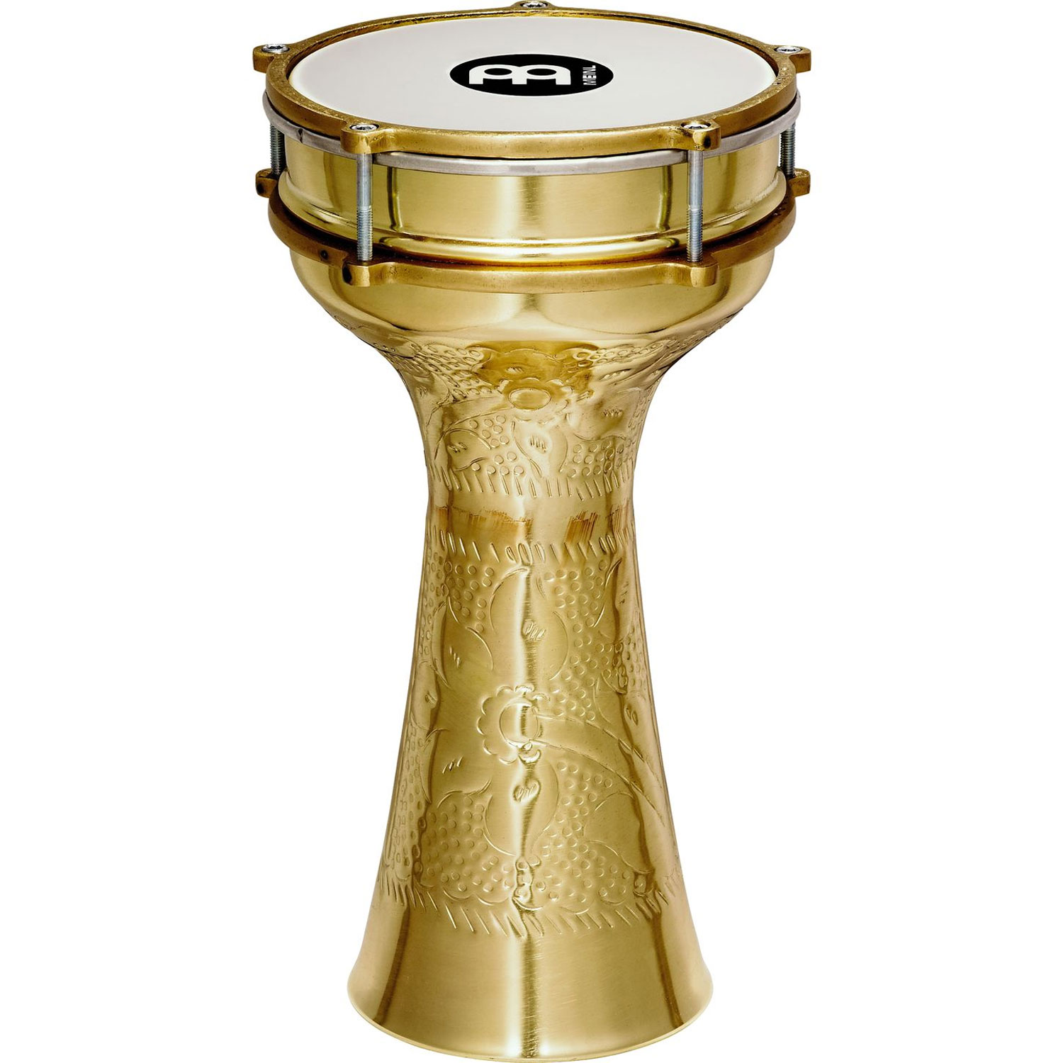 Meinl Large Hand Hammered Copper Darbuka Brass Plated