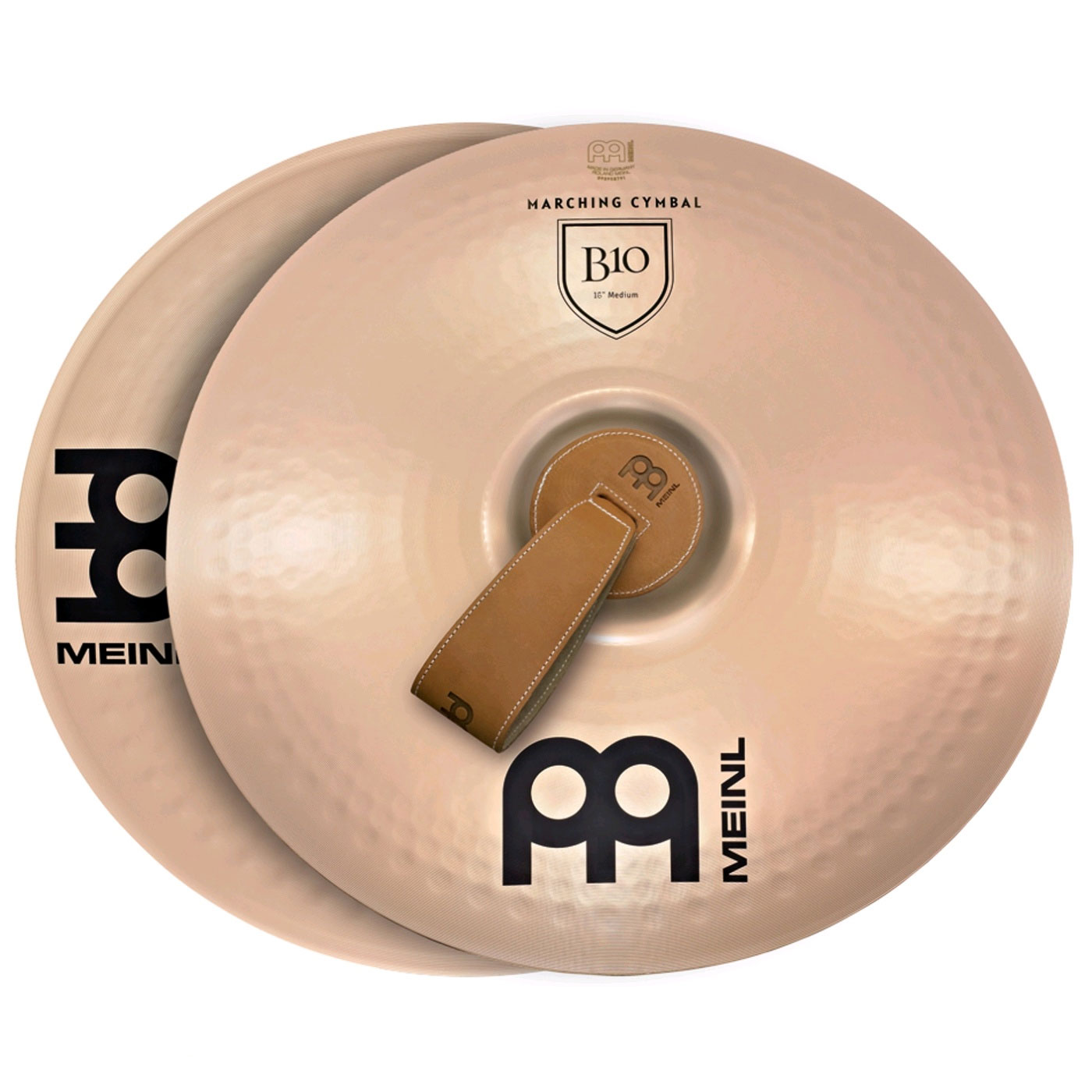 "Meinl 16"" Medium B10 Marching Cymbals Pair"
