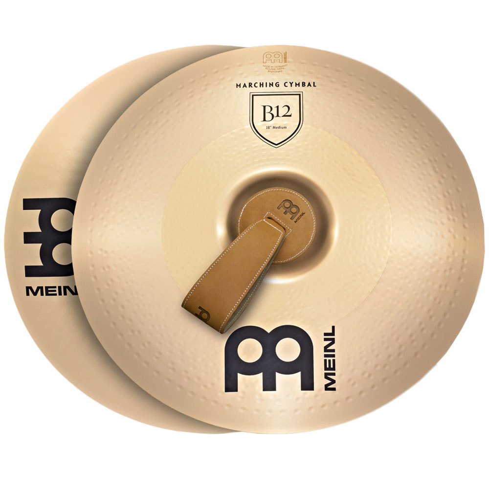 "Meinl 16"" Medium B12 Marching Cymbals Pair"