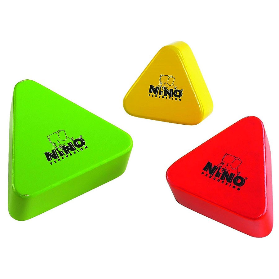 Meinl Nino Wood Triangle Shaker Set