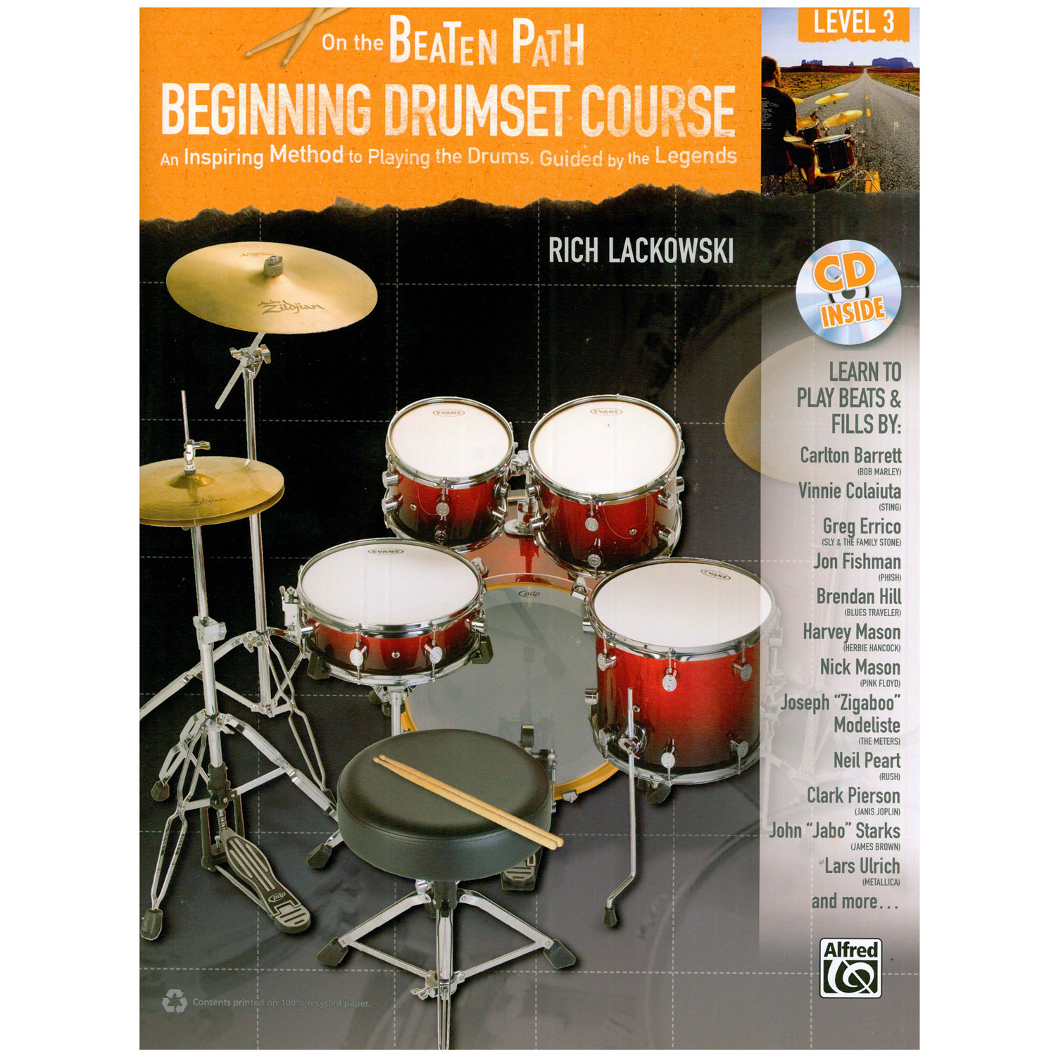On the Beaten Path: Beginning Drum Set Course - Level 3 by Rich Lackowski