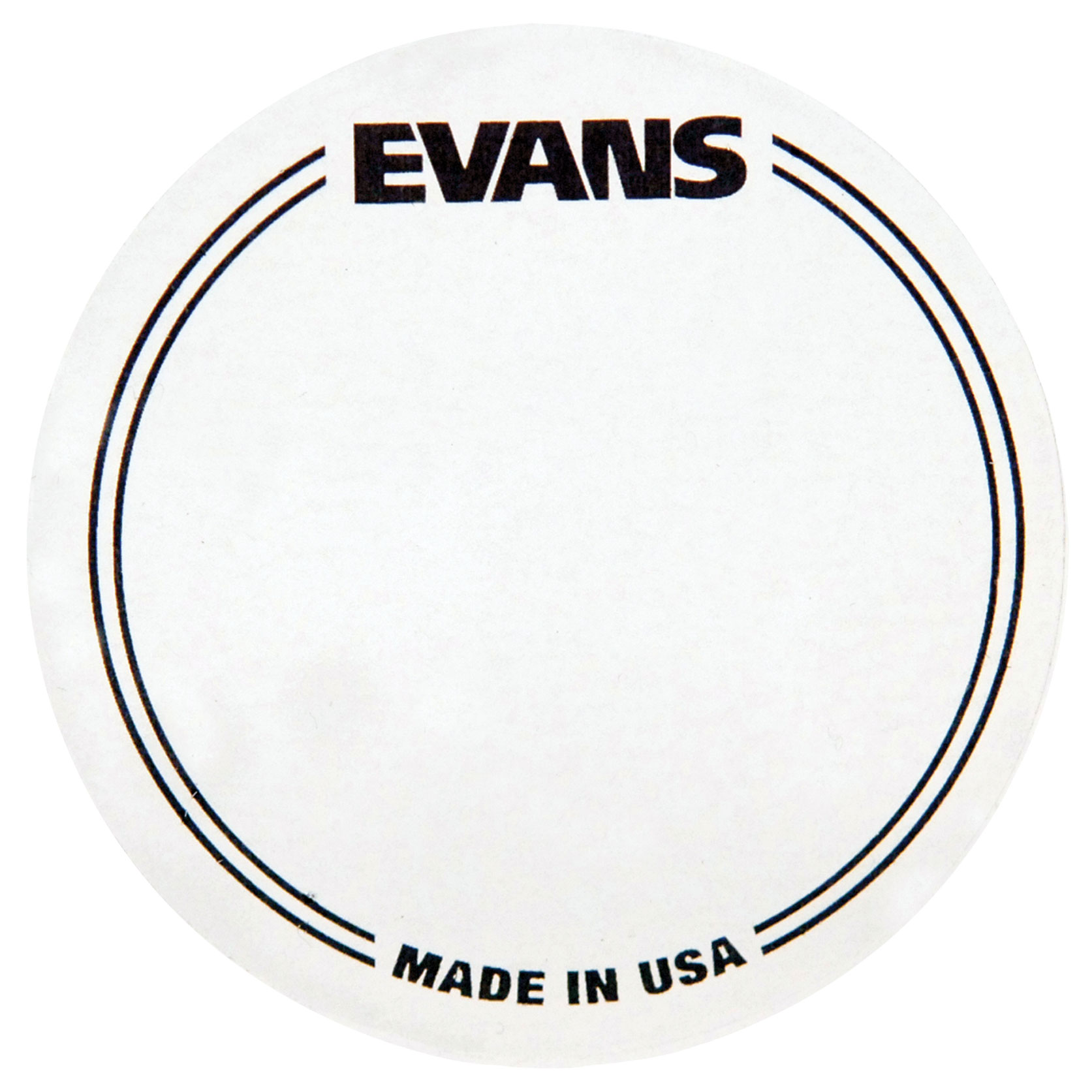 Evans Clear Plastic EQ Single Pedal Bass Drum Patch