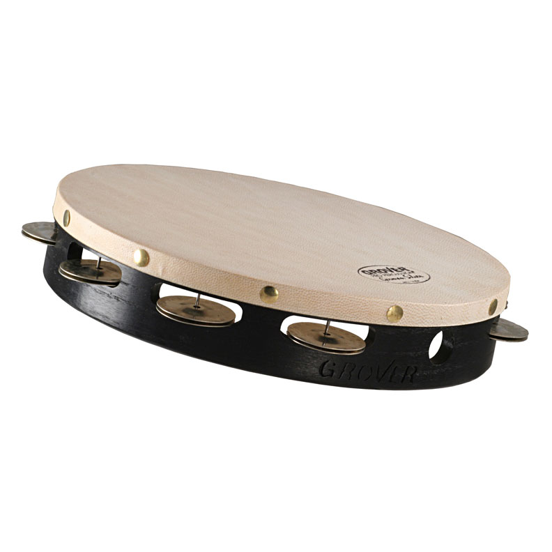 "Grover Pro 10"" Projection-Plus Single Row German Silver Tambourine (Natural Head)"