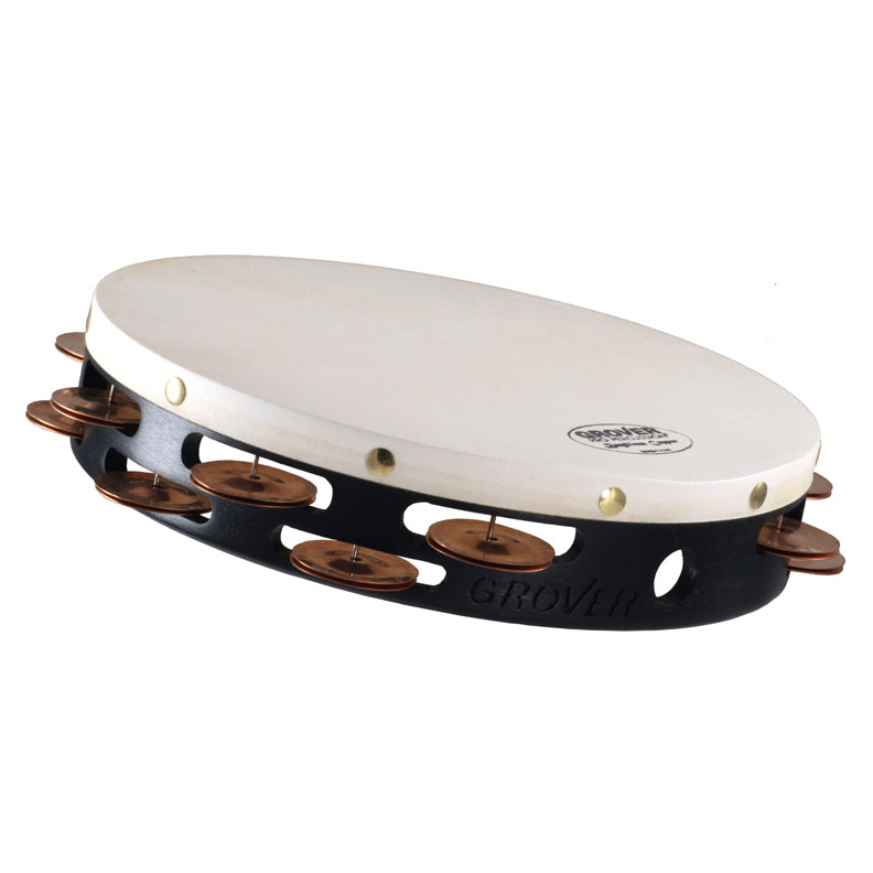 "Grover Pro 10"" Projection-Plus Double-Row Beryllium Copper Tambourine (Natural Head)"