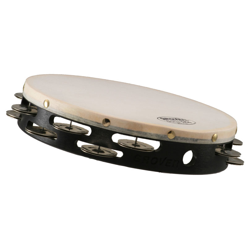 "Grover Pro 8"" Projection-Plus Double-Row German Silver Tambourine (Natural Head)"