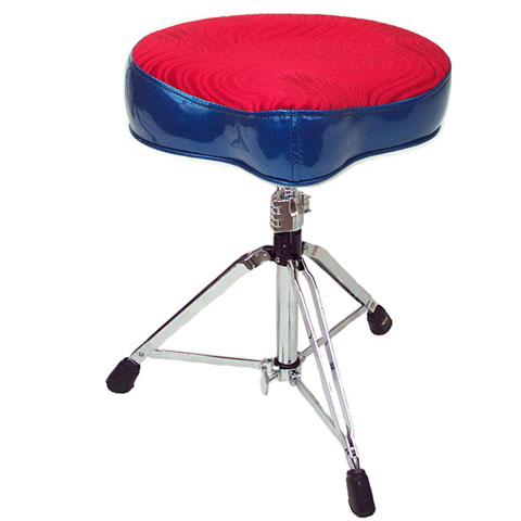 Pork Pie Big Boy Bicycle Blue Sparkle/Red Crush Drum Throne