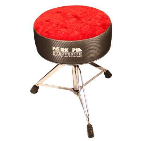 Pork Pie Round Seat Charcoal Carbon/Red Crush Drum Throne