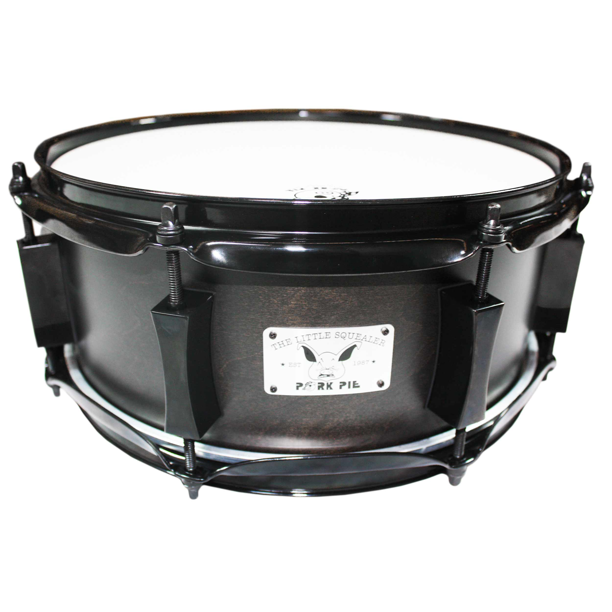 "Pork Pie 5"" x 12"" Black Squealer Snare Drum With Black Hardware"