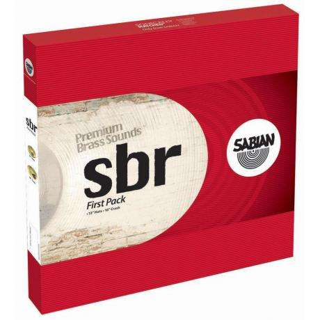 Sabian SBR First Pack 2-Piece Cymbal Box Set (Hi Hats, Crash)