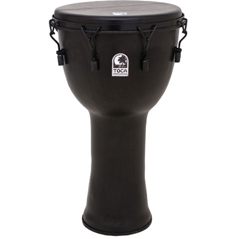"""Toca 14"""" Freestyle Extended Collar Mechanically-Tuned Djembe with Bag"""