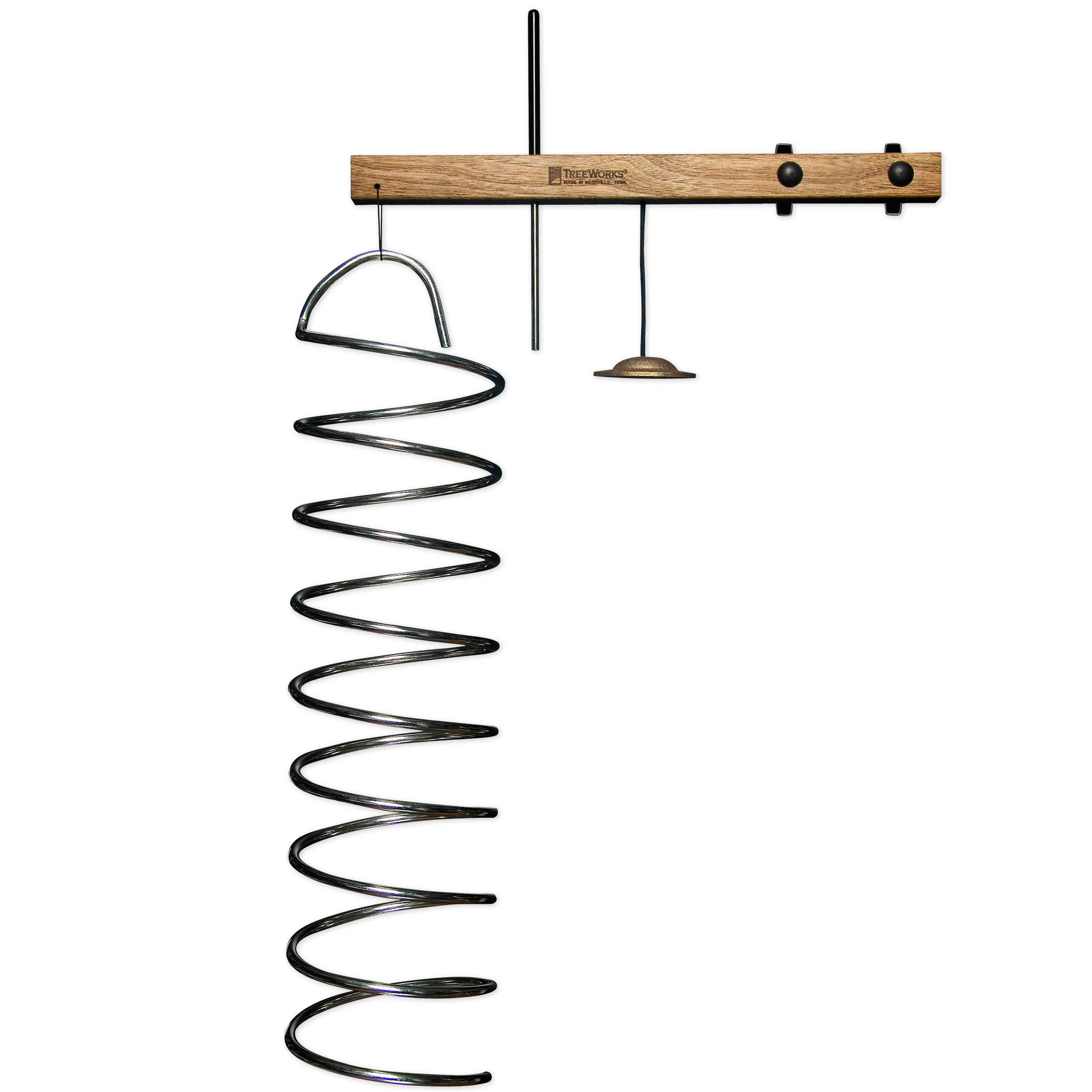 TreeWorks Spring Tree Aluminum Coil with Mount, Steel Beater and Finger Cymbal