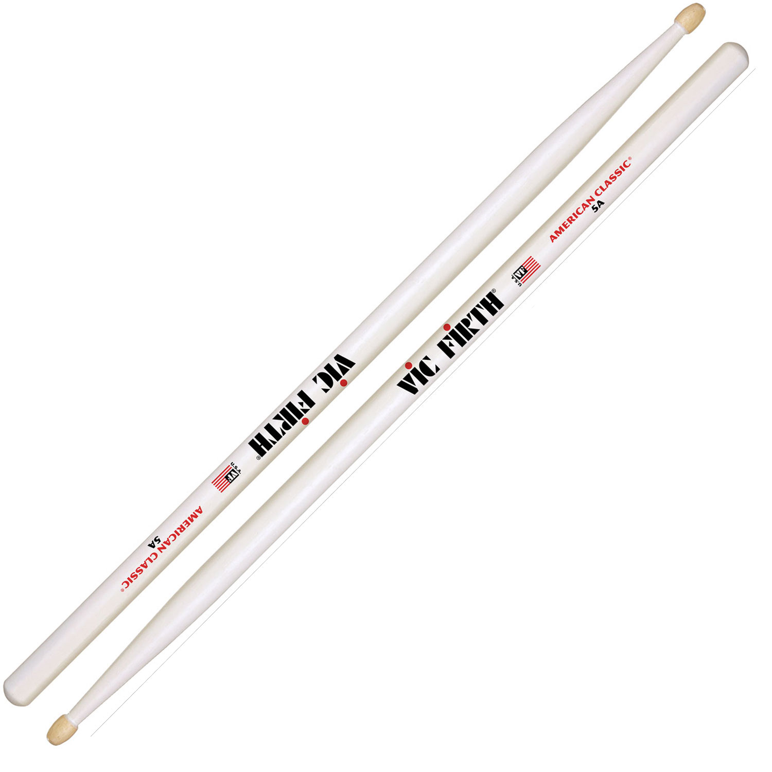 vic firth american classic 5a white drumsticks 5aw. Black Bedroom Furniture Sets. Home Design Ideas