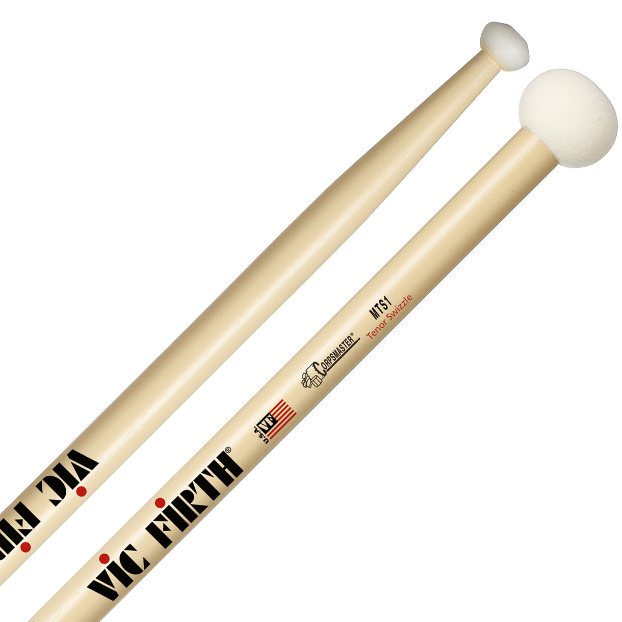 Vic Firth MTS1SW Corpsmaster Marching Tenor Swizzle Sticks