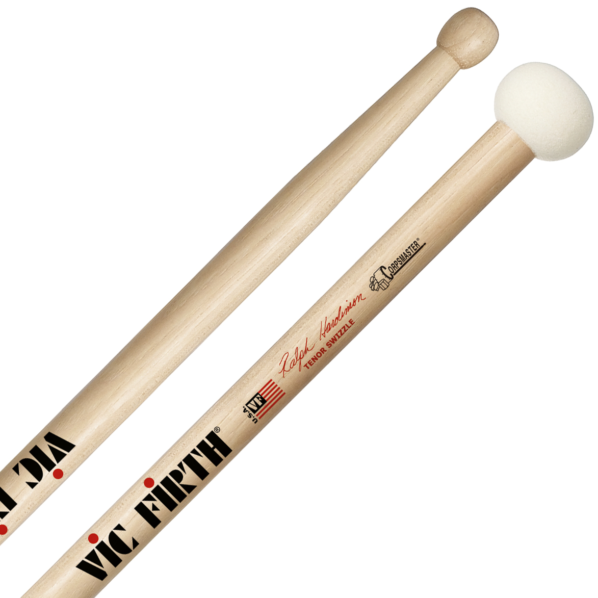 Vic Firth SRHTSW Ralph Hardimon Corpsmaster Signature Marching Tenor Swizzle Sticks