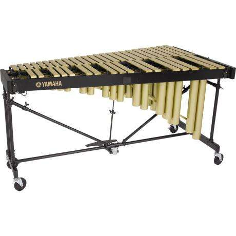 Yamaha Vibraphone with Matte Finish Gold Bars. 3 1/2 octave with short cover