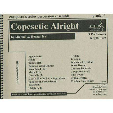 Copesetic Alright by Michael A. Hernandez