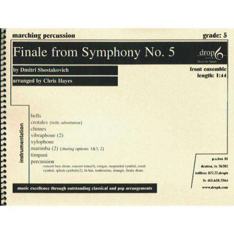 Finale from Symphony No. 5 by Shostakovich arr. Hayes