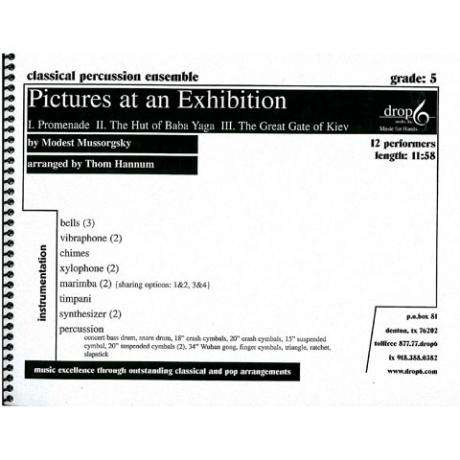 Pictures at an Exhibition by Mussorgsky arr. Thom Hannum