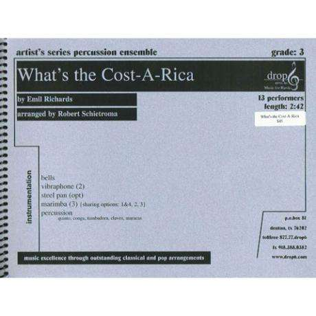 What's the Cost-A-Rica by Emil Richards arr. Dr. Robert Schietroma