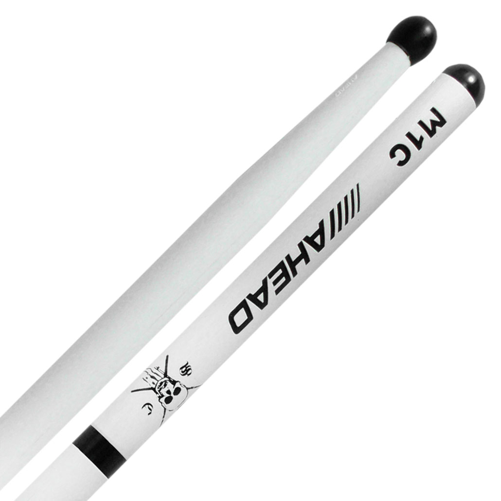 "Ahead 16.75"" White Marching Snare Sticks"