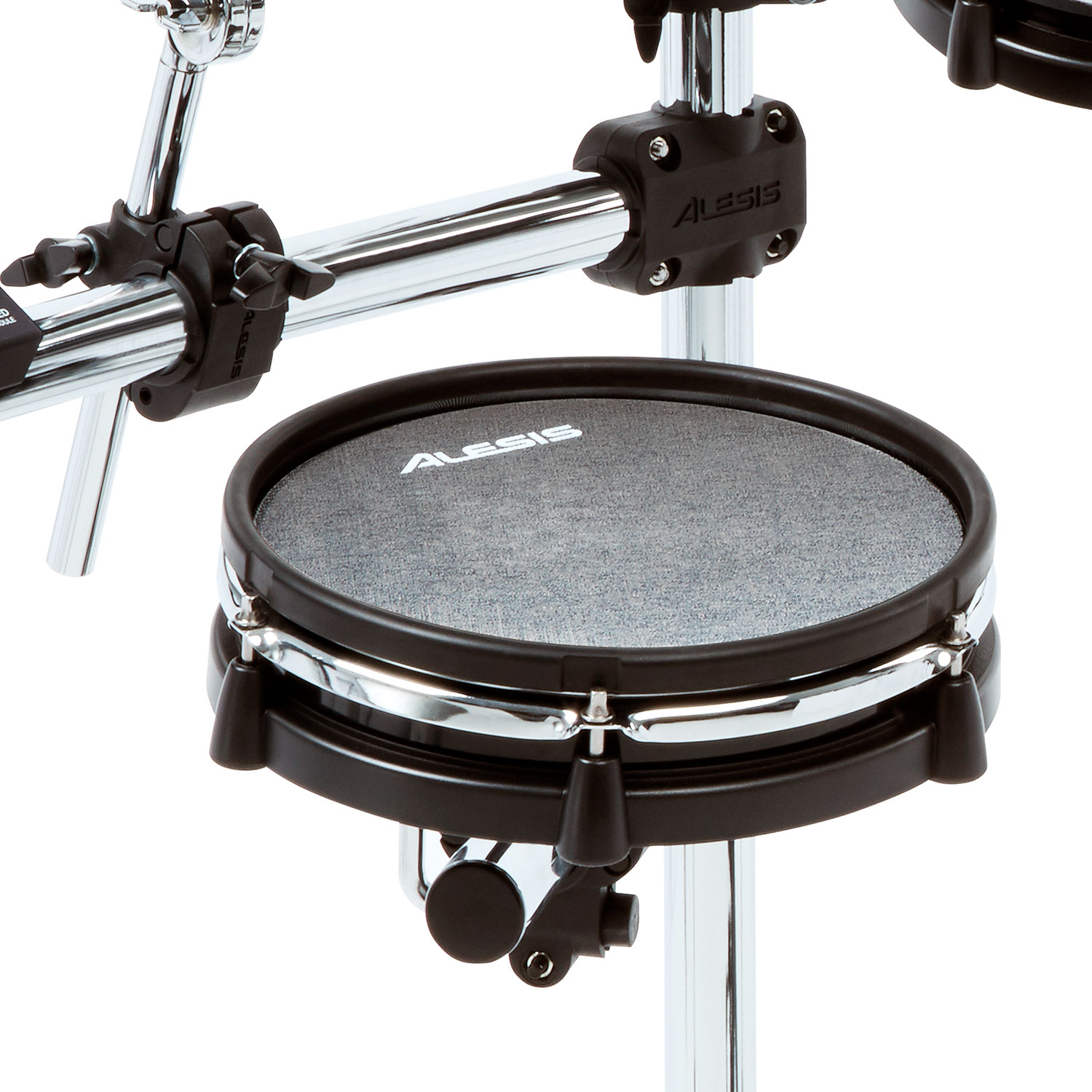 alesis command 5 piece electronic drum set with 3 sided chrome rack commandmeshkitxus. Black Bedroom Furniture Sets. Home Design Ideas