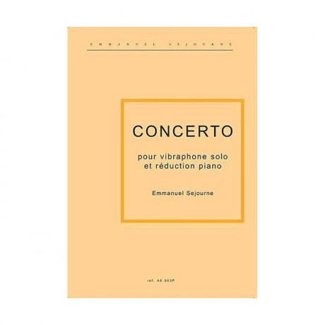 Concerto pour Vibraphone (Piano Reduction) by Emmanuel Sejourne