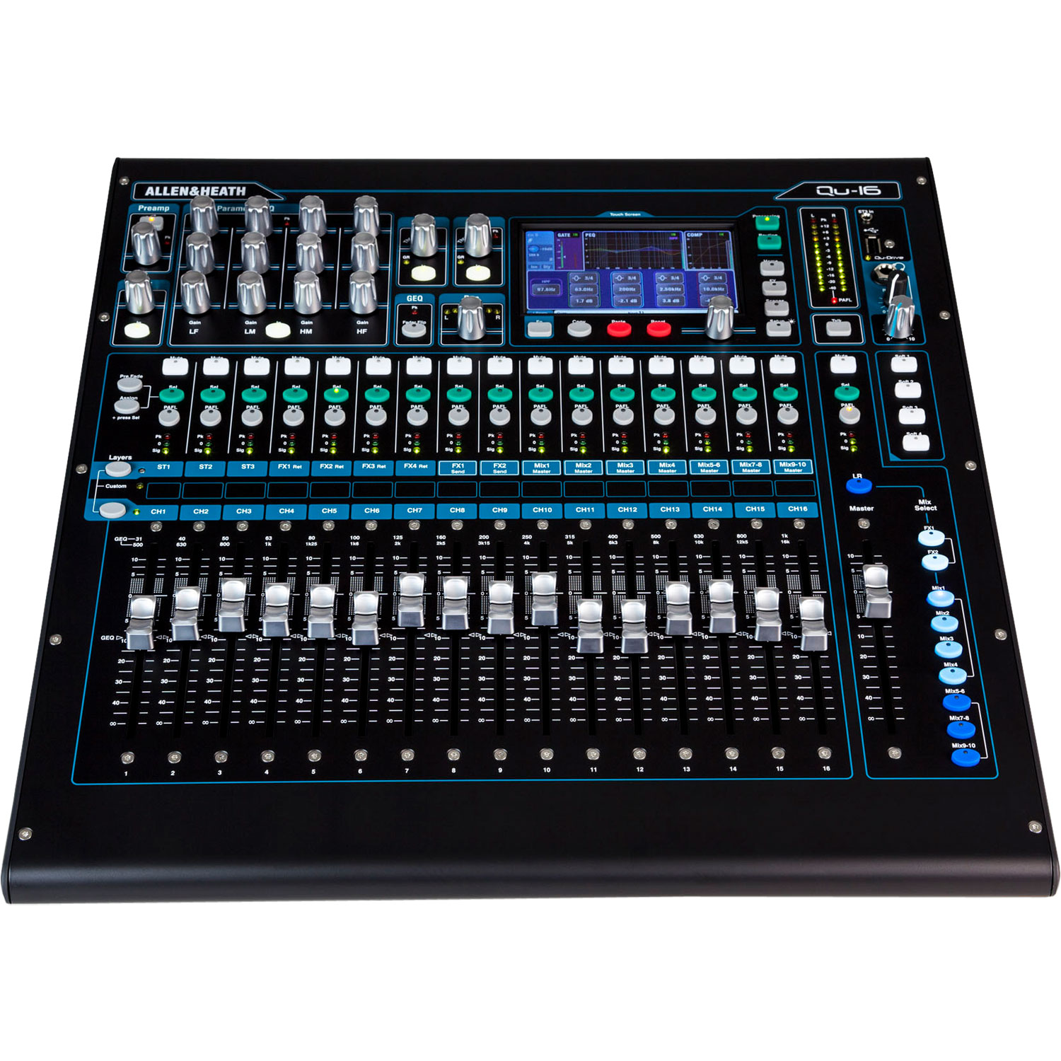 Allen & Heath 16-Channel Digital Mixer with QU-Drive, Chrome Edition
