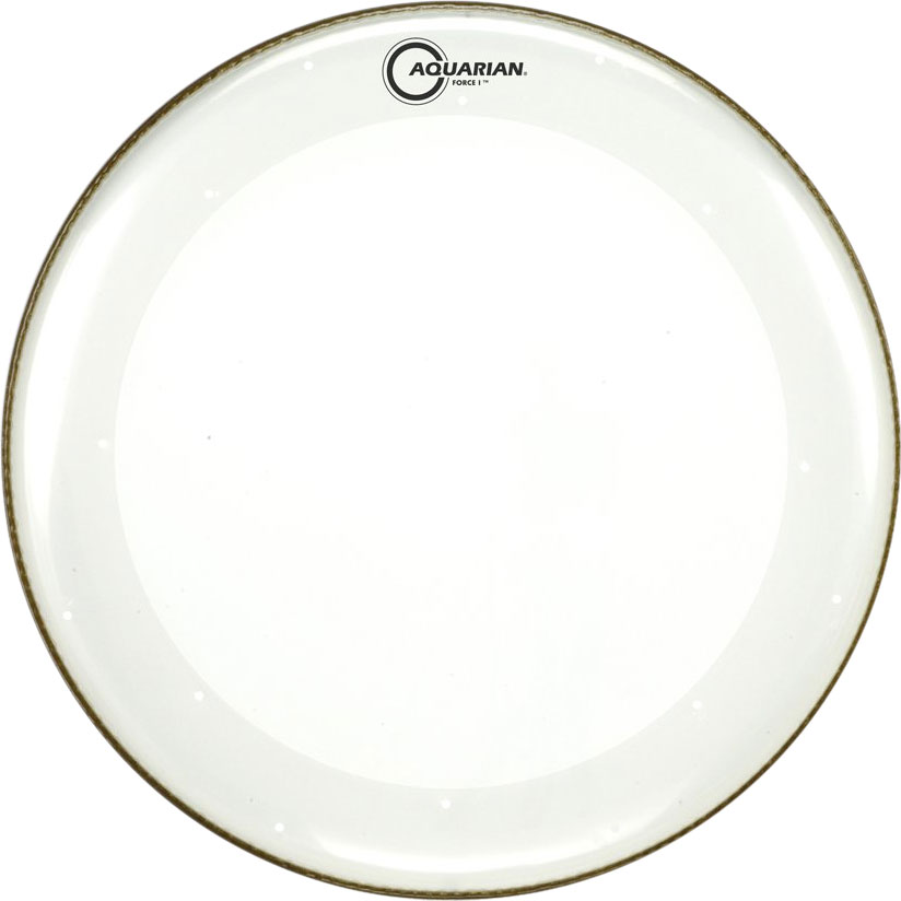 "Aquarian 20"" Force I Clear Bass Drum Head with Vented Control Ring"