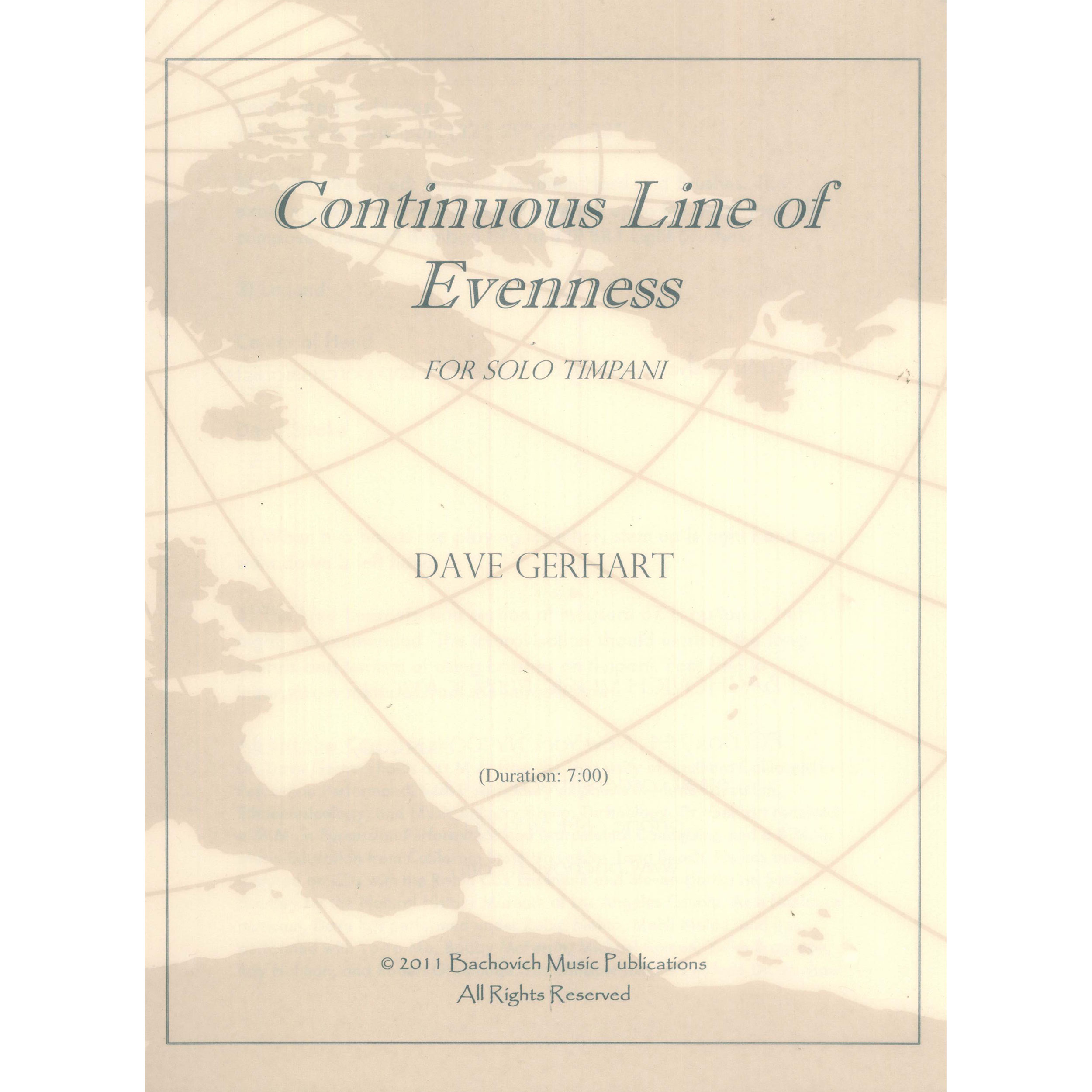 Continuous Line of Evenness by Dave Gerhart