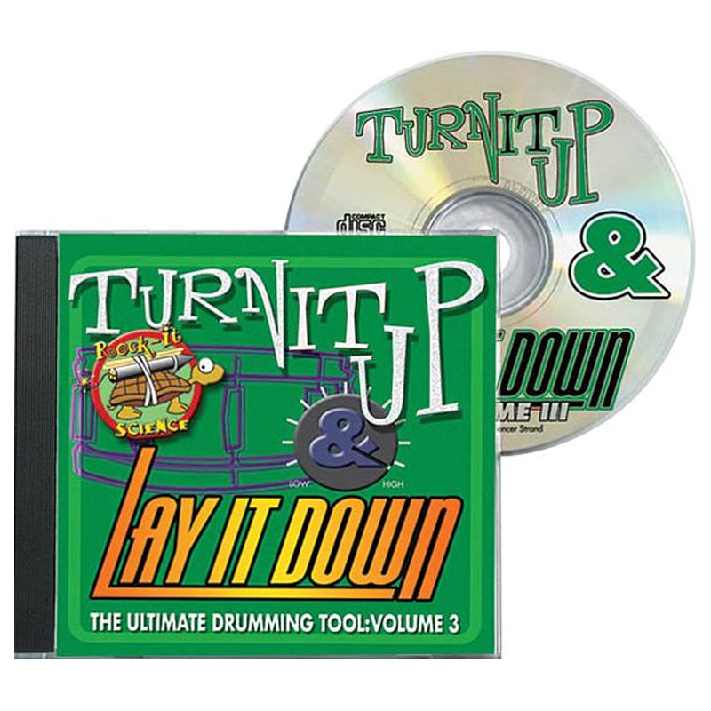 "DrumFun Turn It Up & Lay It Down Vol. 3 ""Rock-It Science"" CD"