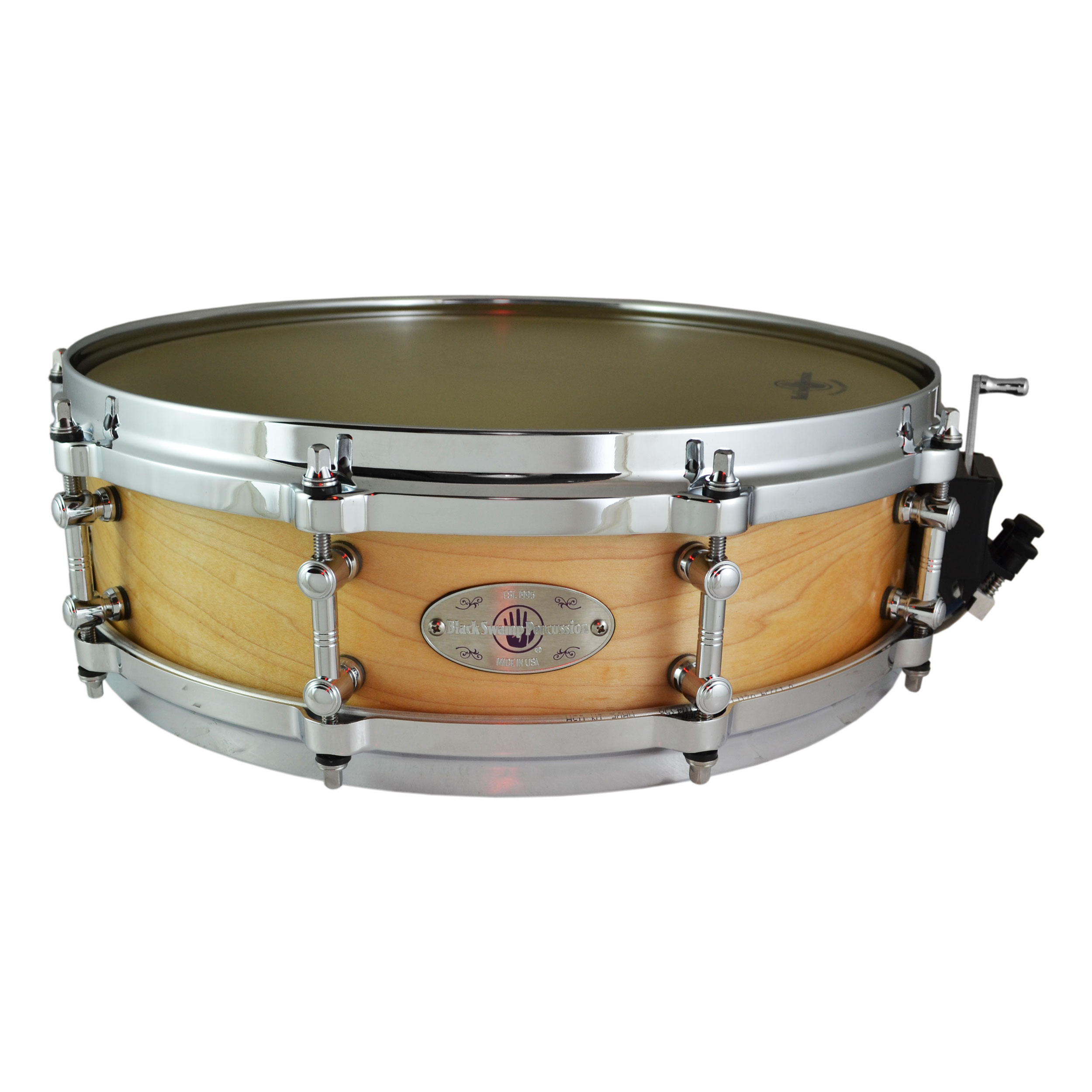 "Black Swamp 4"" x 14"" SoundArt Unibody Maple Snare Drum in Natural"