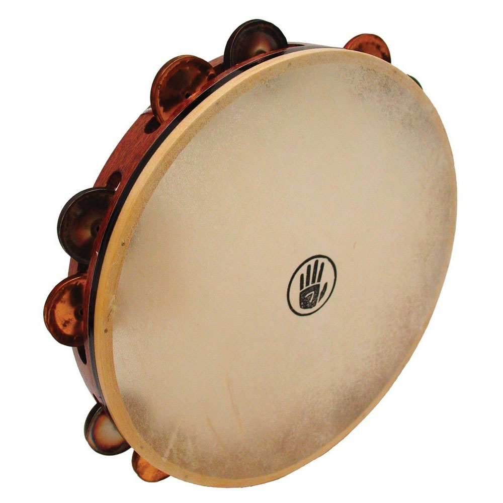 "Black Swamp 12"" SoundArt Single-Row Chromium/Bronze Tambourine (Natural Head)"