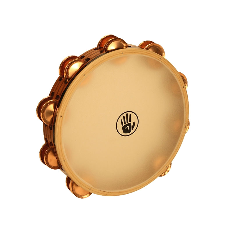 "Black Swamp 10"" SoundArt Double Row Phosphor Bronze Tambourine (Synthetic Head)"
