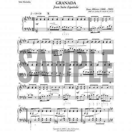 Granada by Isaac Albeniz arr. Joshua D. Smith