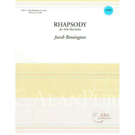 Rhapsody for Solo Marimba by Jacob Remington