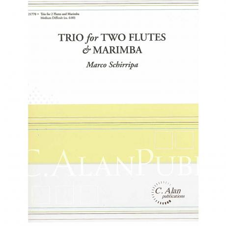 Trio for Two Flutes & Marimba by Marco Schirripa