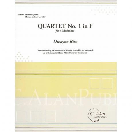 Quartet No. 1 in F by Dwayne Rice