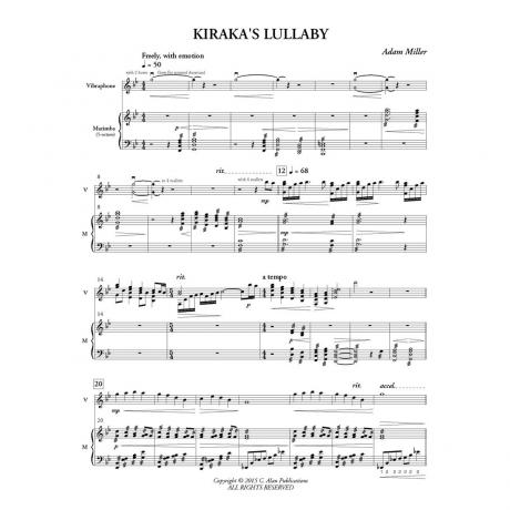 Kiraka's Lullaby by Adam Miller