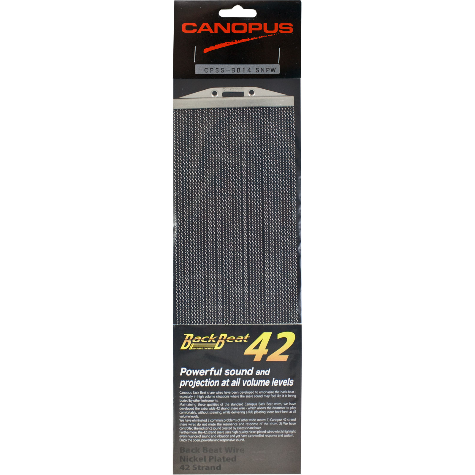 """Canopus 14"""" 42-Strand Back Beat Nickel-Plated Snare Wire"""