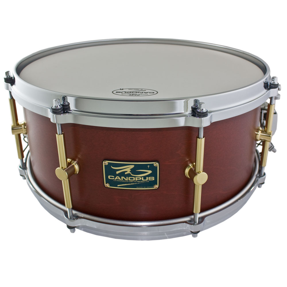 "Canopus 6.5"" x 14"" The Maple Snare Drum in Walnut Oil"
