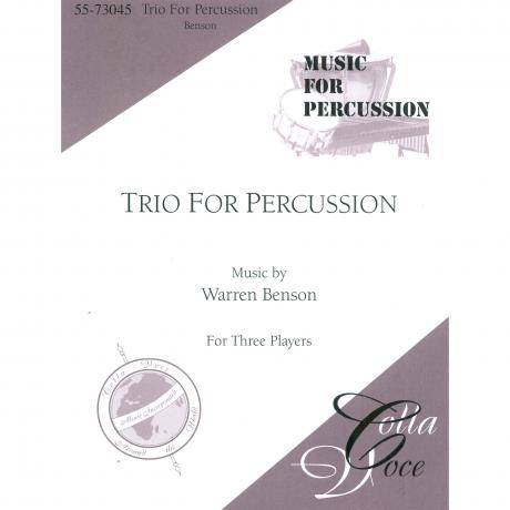 Trio for Percussion by Warren Benson